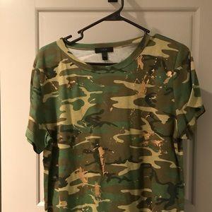 J. Crew Camouflage Tee